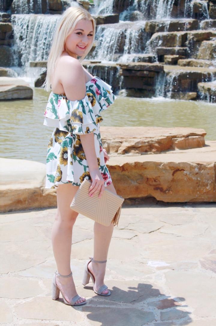 Floral Romper &Waterfalls